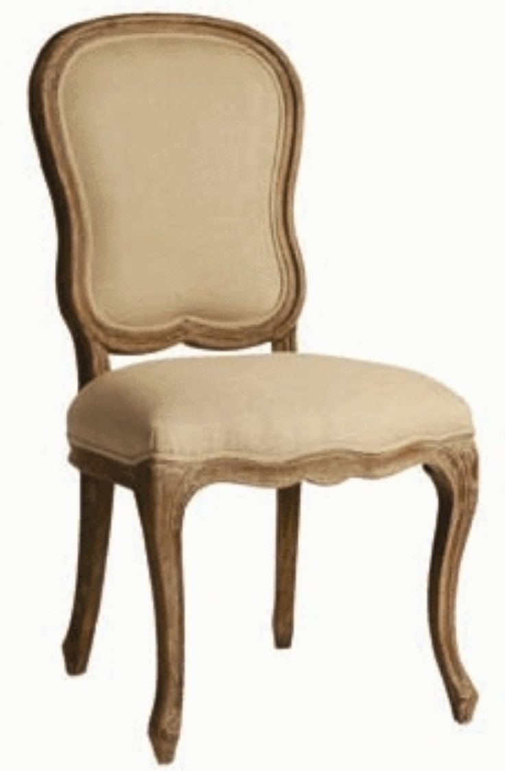 Classic French Carved Leg Dining Chair With Upholstered