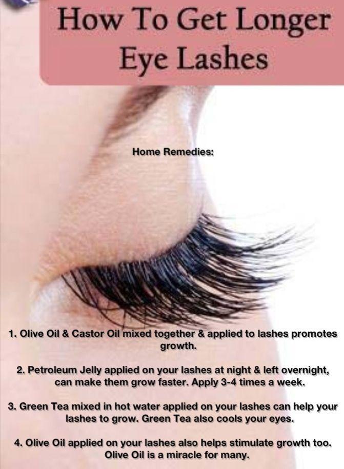 10 Ways To Get Longer Eyelashes Makeup Pinterest Beauty Hacks