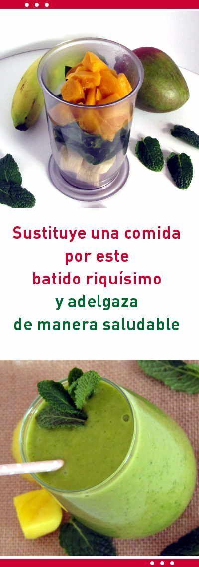 Sustituye una comida por este batido riquísimo y adelgaza de manera saludable #batido #verde #adelgazar #bajardepeso #perderpeso #receta