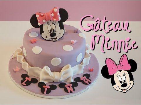 Gâteau Minnie pâte à sucre   Minnie Cake   Cake design - YouTube