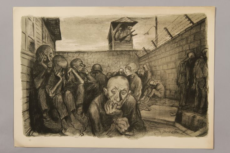 Leo Haas series, German concentration camps: dreaming of freedom by the wall - Collections Search - United States Holocaust Memorial Museum