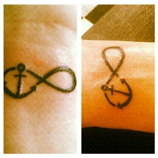25 trending anchor infinity tattoos ideas on pinterest for Infinity tattoo mother daughter