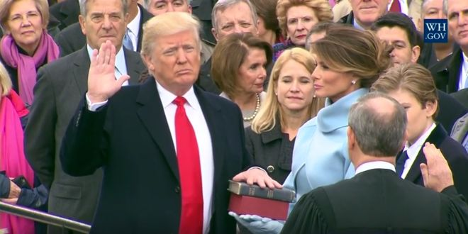 """Israeli and American-Jewish leaders congratulated President Donald Trump on his swearing-in Friday, as the new Republican commander-in-chief promised an """"America First"""" agenda in his inaugural speech."""