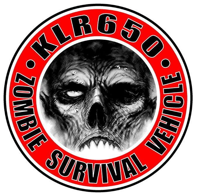 Kawasaki KLR 650. Zombie Survival Vehicle.