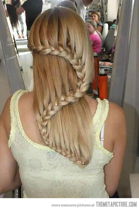 Cool hair!  Shelby Heller should try this style.: Braids Hairstyles, French Braids, Waterfal Braids, Long Hair, Beautiful, Longhair, Hair Style, Waterfall Braids, Snakes