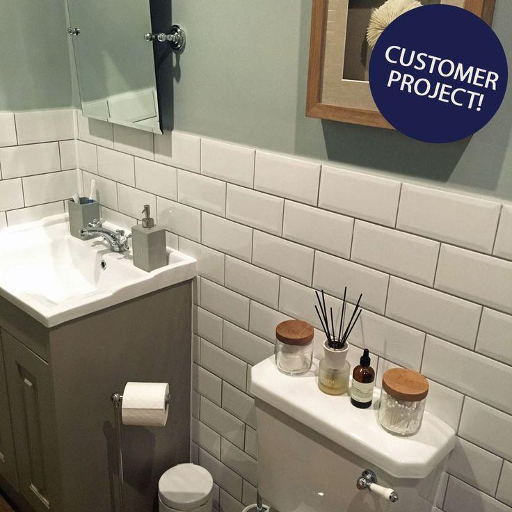 Bevelled Brick White Gloss Wall Tiles Retro Metro Tiles 200x100x5mm Tiles