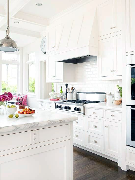 Like the look of this kitchen, but not sure if it is too white and beachy for GC house. Maybe just for Hamptons house? Coastal Style: Hamptons Style Kitchen Makeover