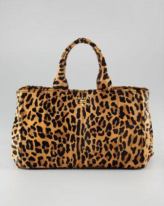 Prada WeekenderDiapers Bags, Fashion Chic, Prada Bag, Cavallino Totes, Design Handbags, Totes Bags, Girls Weekend, Leopards Prints, Neiman Marcus