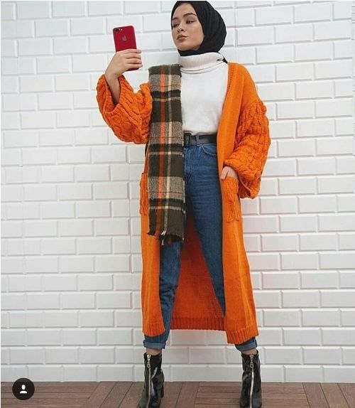 Warm and chic hijab styles – Just Trendy Girls