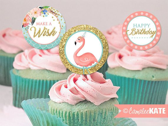 pink flamingo girls birthday pool party instant download