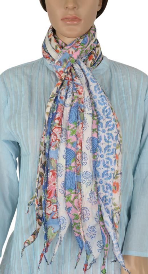 Cotton Printed Sashes Recycled Scarf Patchwork Stole Hijab ID4561 #Handmade #Scarf