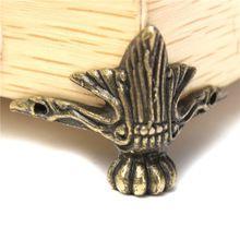 4 X Antique Brass Jewelry Gift Box Wood Case Decorative Feet Leg Corner Protector(China (Mainland))