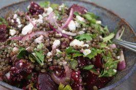 Lentil Salad With Baby Beets & Feta