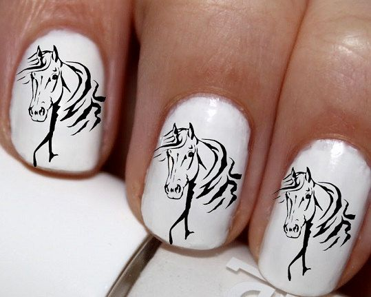 20 pc Arabians Horse Head Horse Nail Art Nail by EasyNailTrends