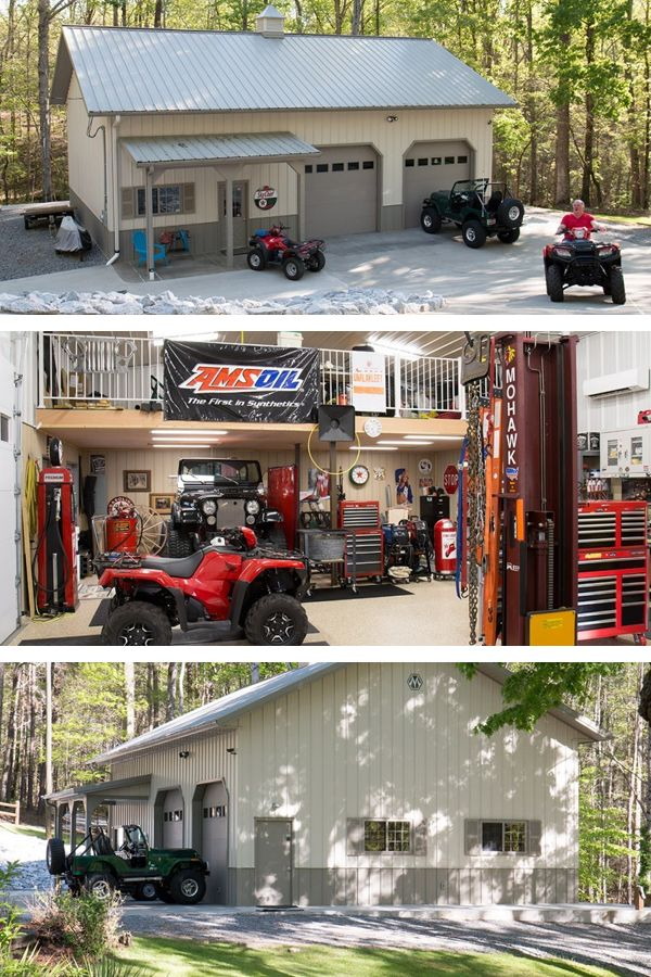 Best 25 dream garage ideas on pinterest garage design for Garage and shop buildings