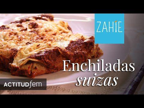 Exquisitas enchiladas suizas rojas | Receta de enchiladas | Zahie Tellez