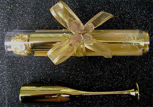 Ref Gold Glass with chocolate www.weddingcards.co.za