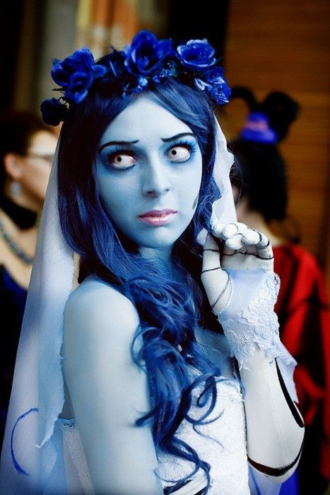 blue halloween makeup   jill and the little crown: Pretty Scary Halloween Make-Up Ideas