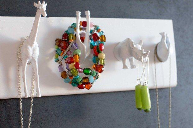 Porte bijoux avec les animaux de la savane