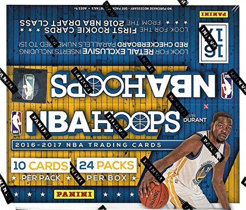 HOOPS 2016 2017 NBA Basketball Retail Series HUGE Unopened Box of Packs Containg 240 cards including Possible Autographed Cards and Retail EXCLUSIVE Inserts