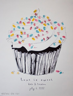 Now introducing our new guest book fingerprint sprinkles cupcake designs!