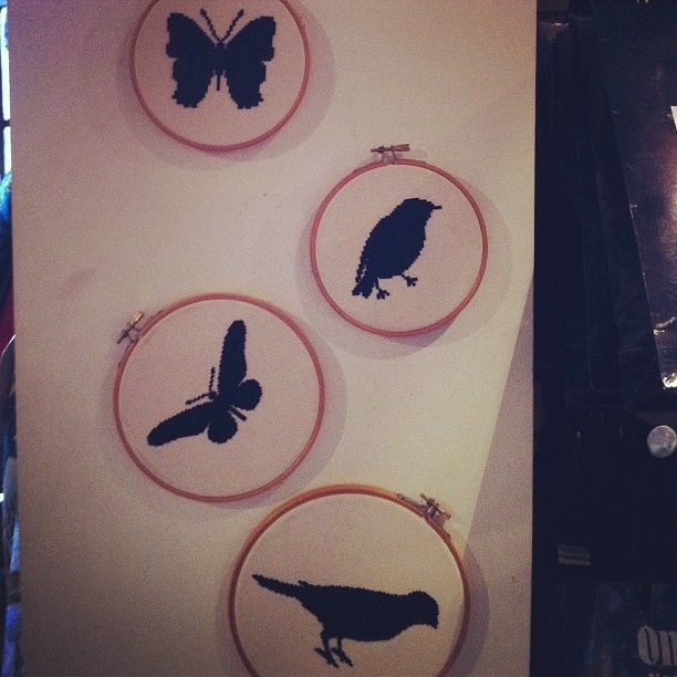 Inspired to do some #silhouette #embroidery or #needlepoint