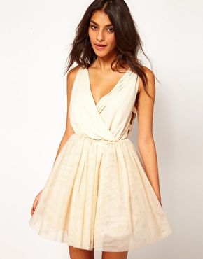 Party Dress with Velvet Trim-- so cute