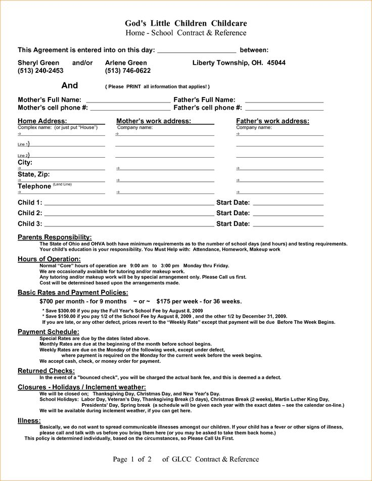 work contracts template