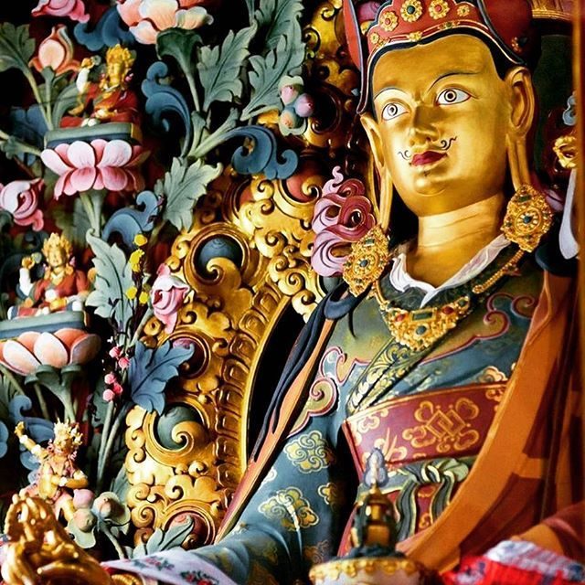 """Padmasambhava, also known as Guru Rinpoche, was an Indian tantric master who played a major role in bringing Vajrayana Buddhism to Tibet in the eighth century. The subject of many myths and legends, little is known about him historically. During the reign of King Trisong Detsen, Padmasambhava helped establish the country's first Buddhist monastery in Samye and he is considered the founder of the Nyingma (""""ancient"""") school, the oldest of the four major traditions of Tibetan Buddhism…"""