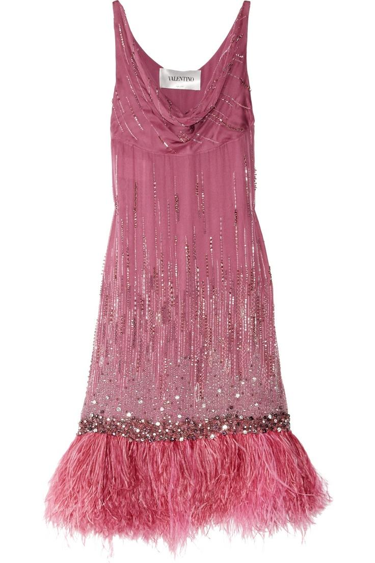 Pink Valentino flapper dress / Gatsby Inspired Fashion