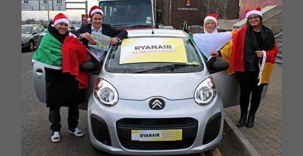 Raspadinhas da Ryanair dão 3 carros novos!