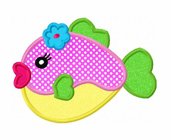 Instant Download Fish Applique Machine by JoyousEmbroidery on Etsy, $2.99