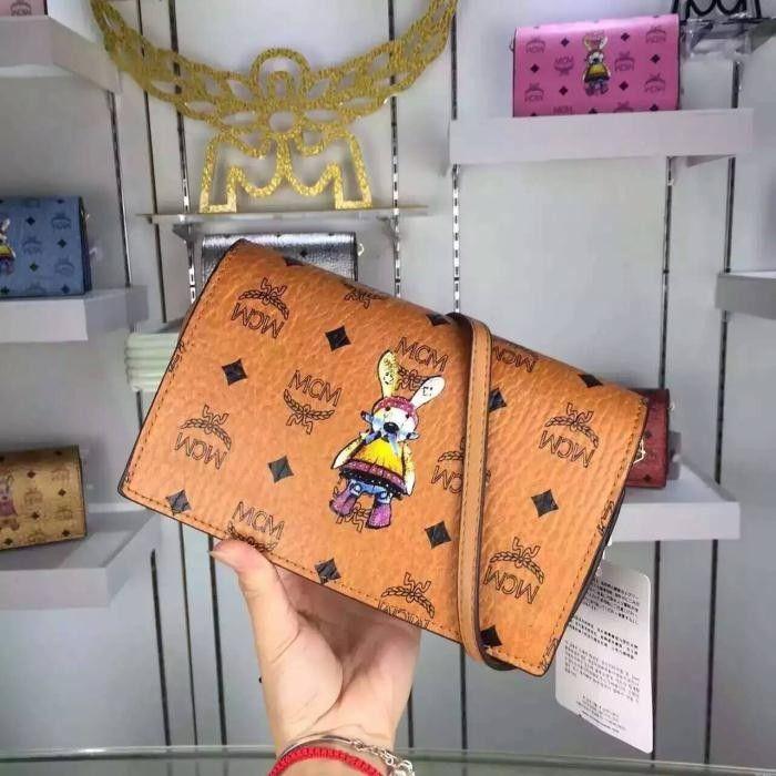 MCM Mini Rabbit Visetos Crossbody Bag In Brown