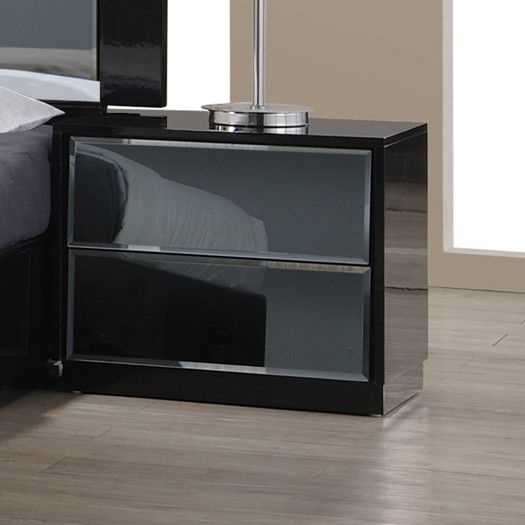Chintaly Imports Venice 2 Drawer Nightstand $199.99