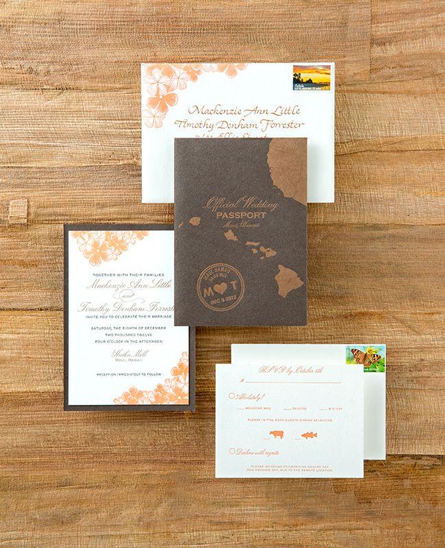 """""""Passport"""" wedding invitation for destination wedding"""