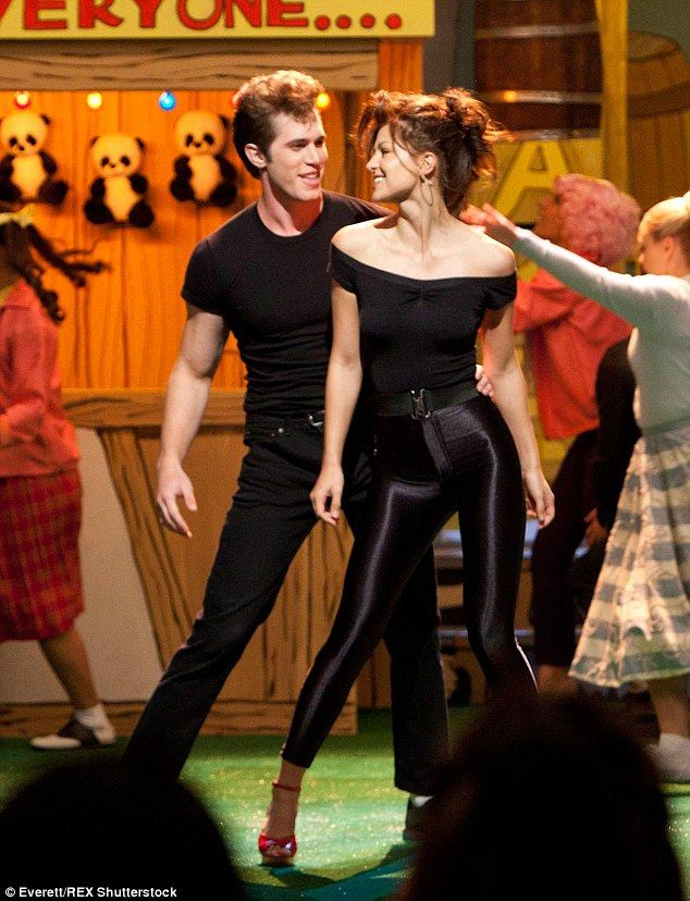 Grease is the word: Blake and Melissa starred as Danny and Sandy when Glee did its version of 1978 musical