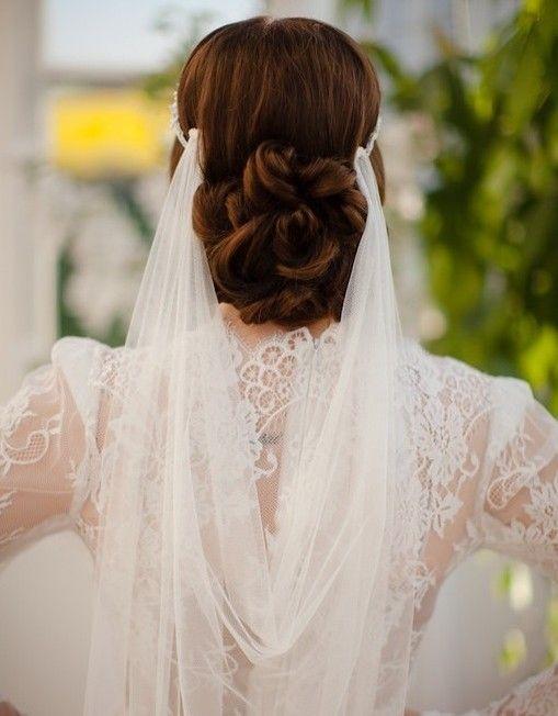 15 Wedding Hairstyles with Exquisite Headpieces by Jannie Baltzer - MODwedding
