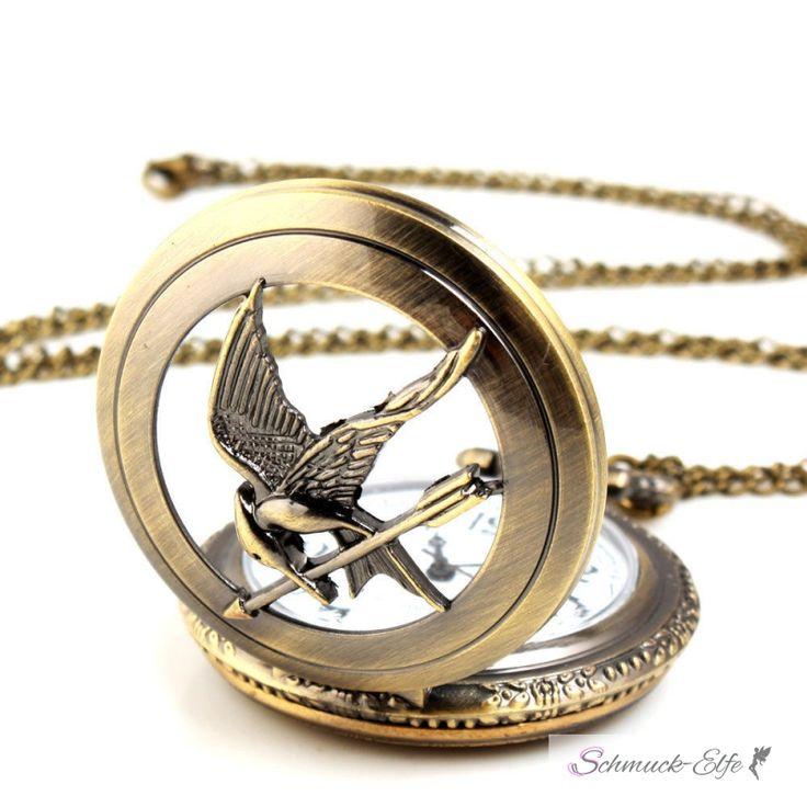Taschenuhr XXL vintage mit Kolibri inkl. Halskette, 49,99 €