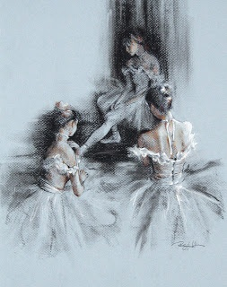 Degas ballerinas... I want to hang this in he nursery if I ever have a daughter!