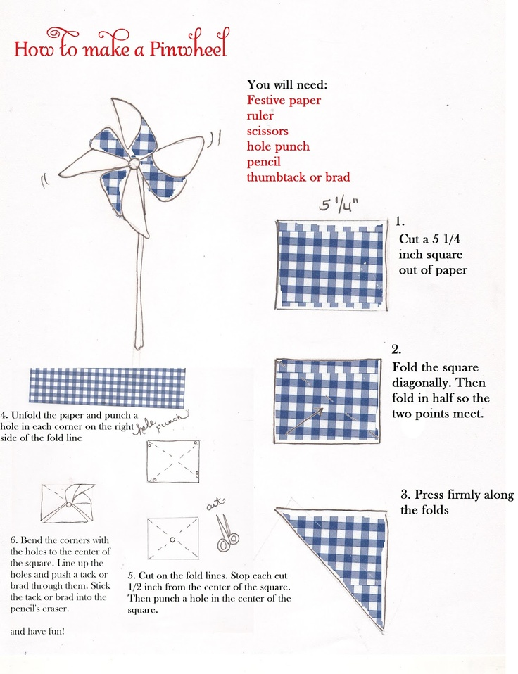 Summer Crafts - Pinwheels