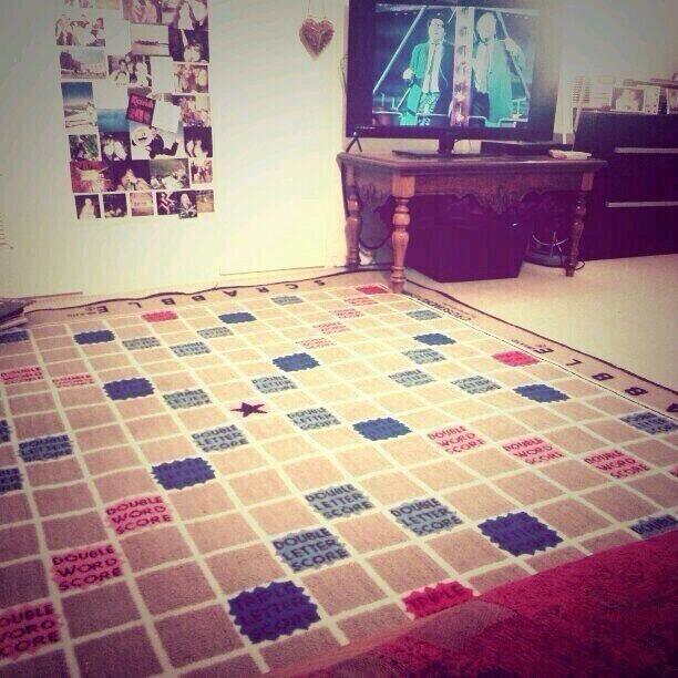 Brilliant! Scrabble carpet