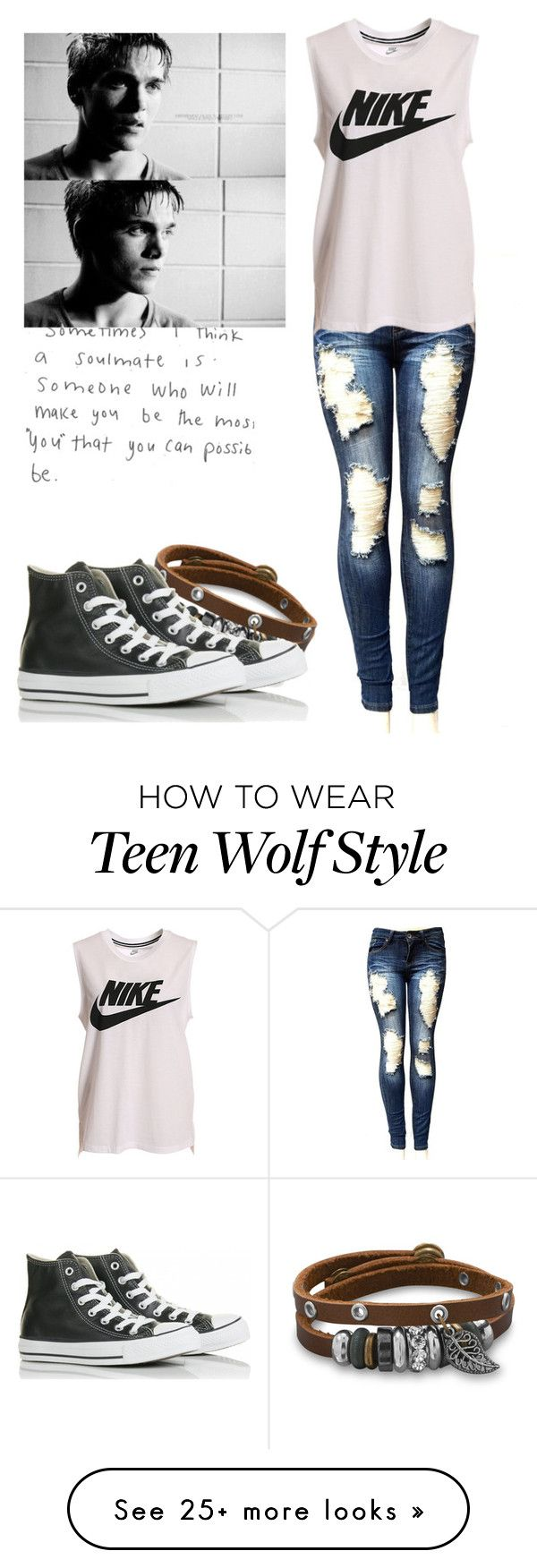 """Liam Dunbar - tw / teen wolf"" by shadyannon on Polyvore featuring BillyTheTree, NIKE and Converse"