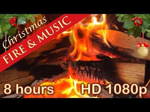 ✰ 8 HOURS ✰ CHRISTMAS MUSIC with FIREPLACE ✰ Christmas Music ...