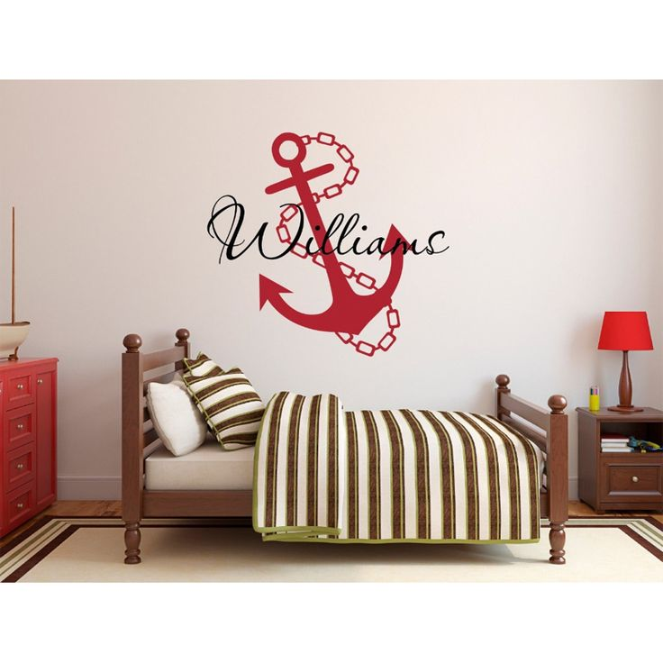 Cheap Name Wall Decals, Buy Quality Wall Decals Directly From China  Decorative Vinyl Suppliers: Personalized Anchor Name Wall Decal For Boys  Room Nursery ... Part 85