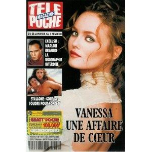 Vanessa Paradis : une affaire de coeur, dans Télé Poche n°1511 du 23/01/1995 [couverture isolée et article mis en vente par Presse-Mémoire]