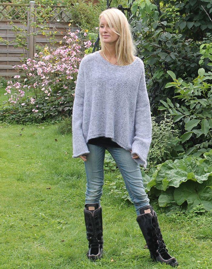 alpaca strikketrøje uld
