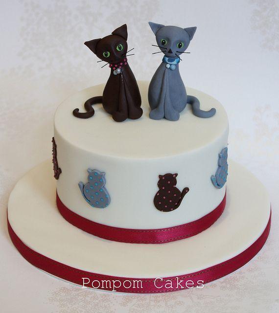 ... Cat Birthday Cakes on Pinterest  Kitten Cake, Cat Cupcakes and Cat