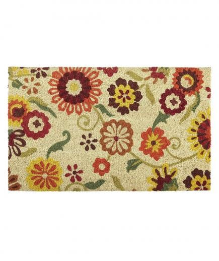 12 floral accessories to brighten your home doormats coir and outdoors - Front door mats as a guest greeting tool ...