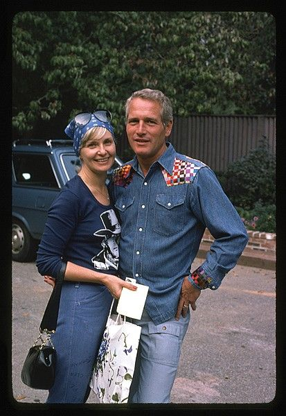 Paul Newman and Joanne Woodward by Milton Greene