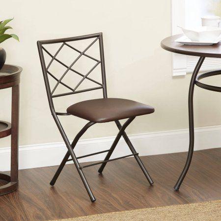 diamond xback folding dining chair bronze espresso red - Walmart Fold Up Chairs
